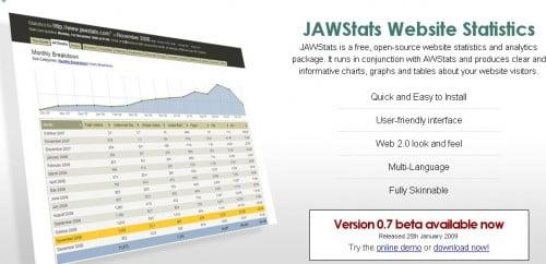 jawstats - Στατιστικά επισκεψιμότητας εναλλακτικά του Google Analytics
