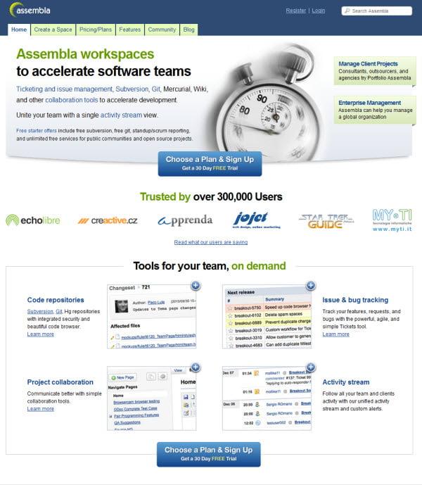 assembla για online Διαχείριση Projects & Συνεργασία