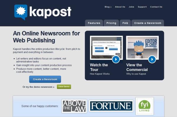 kapost για online Διαχείριση Projects & Συνεργασία
