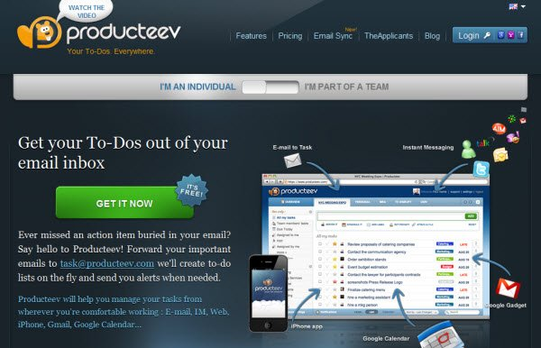 producteev online Διαχείριση Projects & Συνεργασία