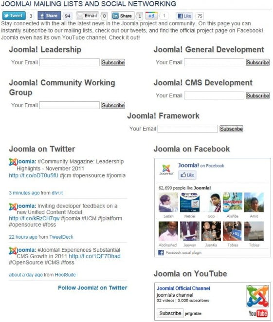 joomla - λίστες