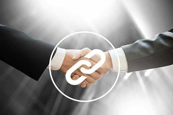 Backlink Icon on Handshake