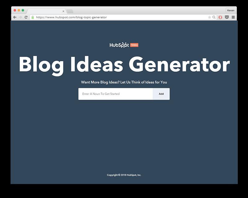 Blog Generator Hubspot