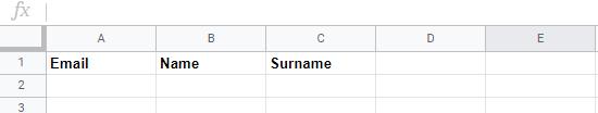 Excel για μαζική εισαγωγή επαφών newsletter