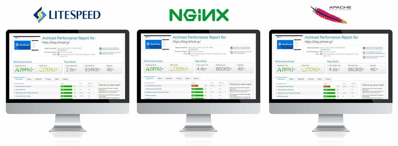 Ταχύτερο WordPress hosting με Litespeed vs Apache vs Nginx