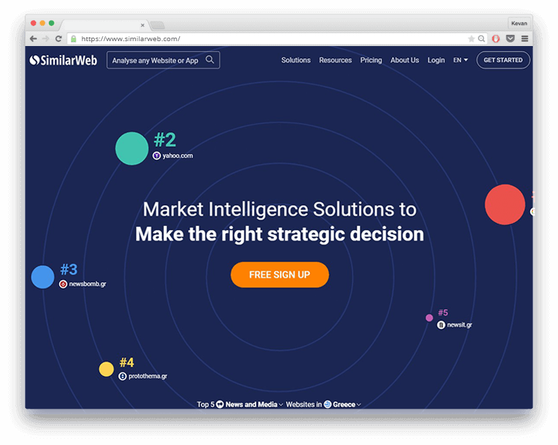 similarweb screen